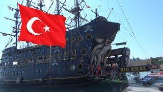 в Турции 2017  пиратские корабли для отдыха.
