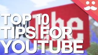 10 Top Tips For Minecraft YouTubers!