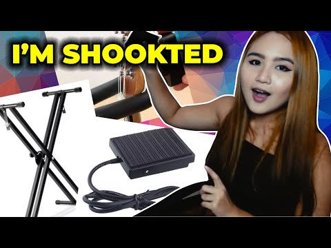 YAMAHA PIANO STAND, CHEAP SUSTAIN PEDAL AND MORE LAZADA MUSICAL ITEMS REVIEW | Yennybelles