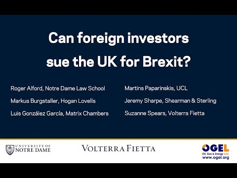 Can foreign investors sue the UK for Brexit?