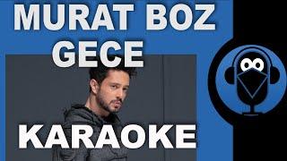 Murat Boz - Gece / KARAOKE / SÖZLERİ / Lyrics / ( COVER )