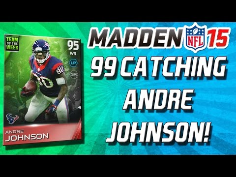 Madden 15 Ultimate Team - 99 CATCHING ANDRE JOHNSON! + NEW Throwback! - MUT 15