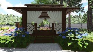 видео Ландшафтный дизайн, озеленение, благоустройство