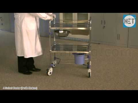 Dressing Trolley made of Stainless Steel. Item Code: HF2072a