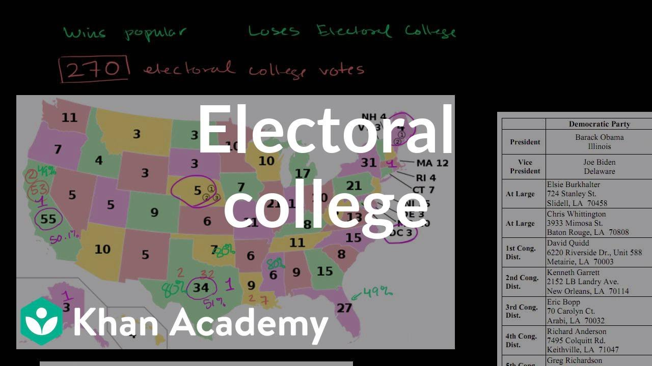 The Electoral College (video) | Khan Academy