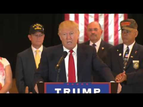 """The Money's Been Paid Out"" Donald Trump Veterans Donations Press Conference"