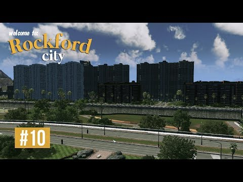 Cities Skylines: Rockford City - EP10 - Central Park and Low Eco Residential!