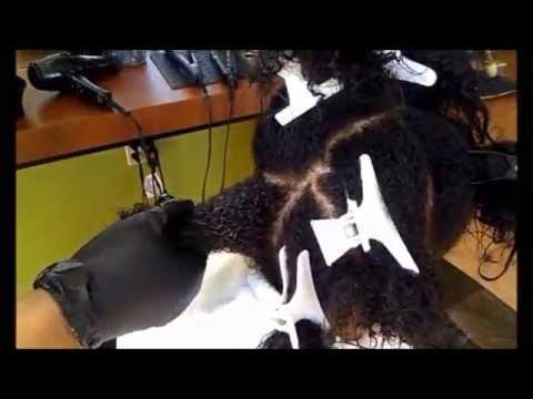 Keratin Treatment on African American hair  YouTube