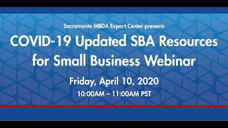 COVID-19 Updated SBA Resources for Small Business Webinar
