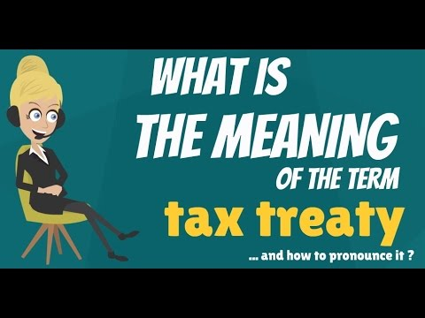 What is TAX TREATY? What does TAX TREATY mean? TAX TREATY meaning, definition & explanation