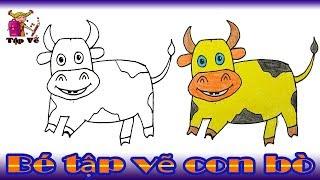 Bé tập vẽ con bò theo mẫu