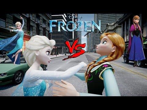 Anna vs Elsa - (Frozen) Arendelle - Epic Princesses Fight