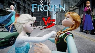 Anna vs Elsa - (Frozen) Arendelle - Epic Princesses Fight