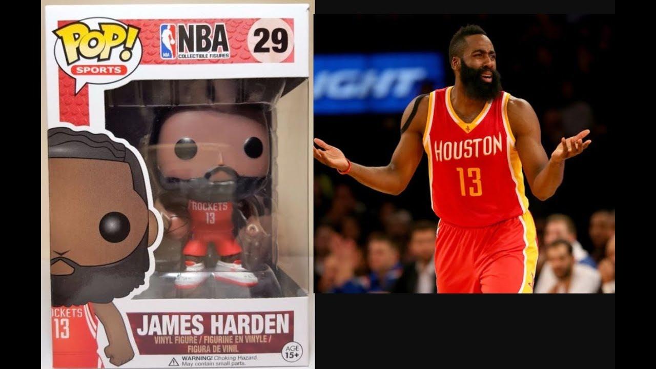 6afbbe2e17e3 NBA Funko Pop James Harden Houston Rockets Review - YouTube