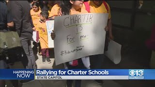 Charter School Supporters Rally At State Capitol