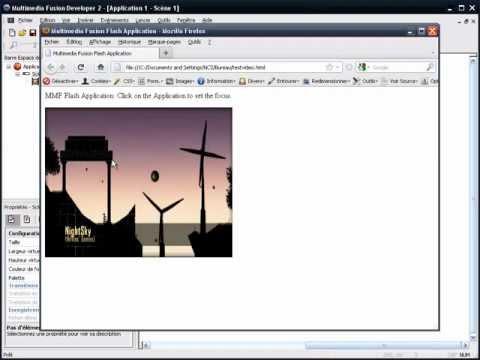 Créer un lecteur vidéo Flash™ (.swf) avec Multimedia Fusion 2