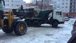 видео Уборка и вывоз снега