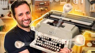 O que tem dentro de uma máquina de escrever