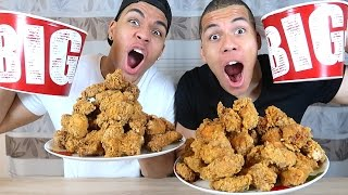 100 HOT WINGS KFC CHALLENGE !!! | PrankBrosTV