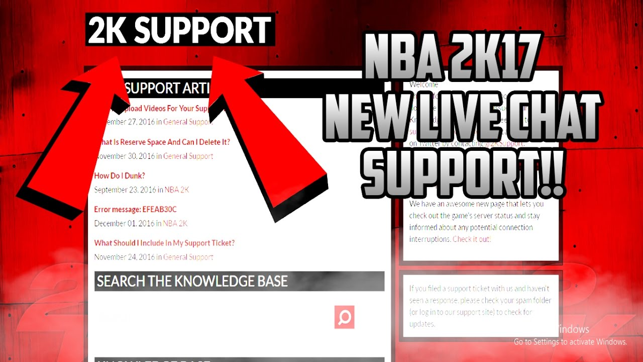2K HAS A *NEW* LIVE CHAT SUPPORT NOW!!!
