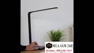 Đèn học và làm việc cảm ứng LED 3 chế độ ánh sáng kiêm sạc điện thoại không dây - DENBAN15