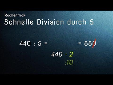 Die besten Rechentricks: Schnelle Division durch 5