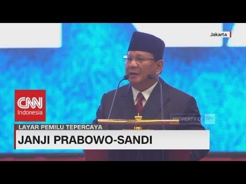 """Prabowo Buka Pidato Visi Misi """"Indonesia Menang"""" dengan Sajak"""