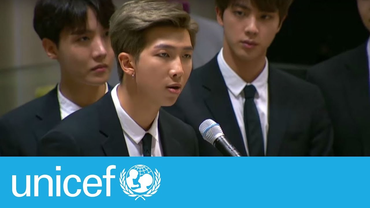 bts speech at the united nations unicef