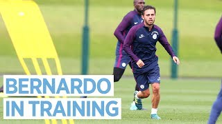 Bernardo silva's first training session | man city pre season training