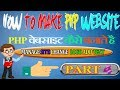 how to make php website series part 4 manage your php website change logo footer text