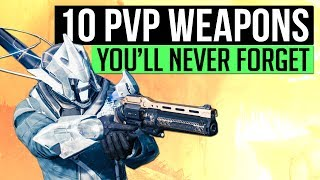 Destiny   10 PvP Primaries You Will Never Forget! (A Weapons Retrospective)