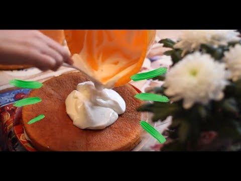 Cooking: крем для бисквитных коржей из сметаны и белков.