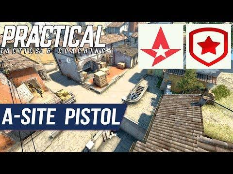 CS:GO Tactic -- Astralis vs Gambit -- Inferno A-site Pistol Tactic