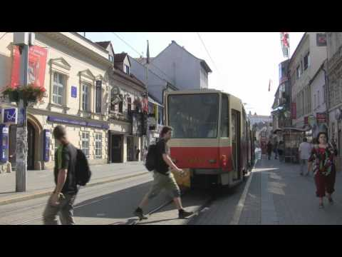 Raw Video: Outskirts of City Centre + Shopping Street, Bratislava, Slovakia