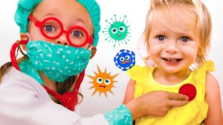 Doctor checkup and Wash Your hands | Kids Song by Maya and Mary