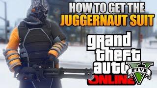 GTA 5 ONLINE - HOW TO GET THE NEW JUGGERNAUT SUIT! RARE JUGGERNAUT OUTFIT! (GTA 5 Glitches & Tricks)