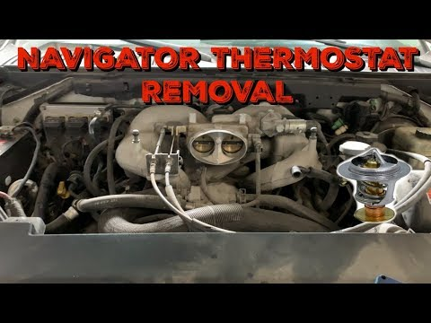 2002 2004 lincoln navigator 5 4 thermostat removal code p0128 youtube 2002 2004 lincoln navigator 5 4