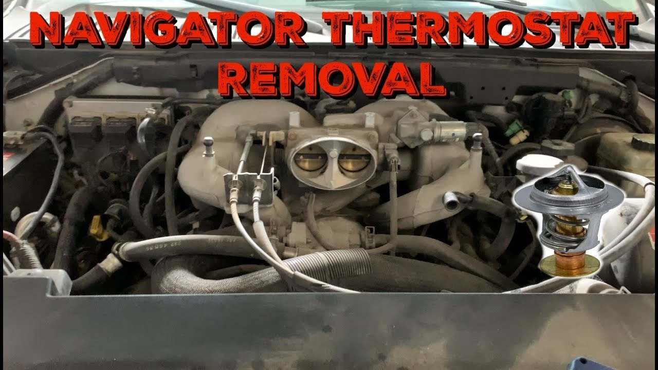 2002 2004 Lincoln Navigator 5 4 Thermostat Removal Code P0128 Youtube