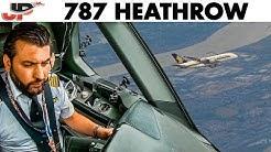 Piloting Boeing 787 into Heathrow   Stunning Cockpit Views