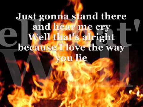 Song lyrics love the way you lie part 2