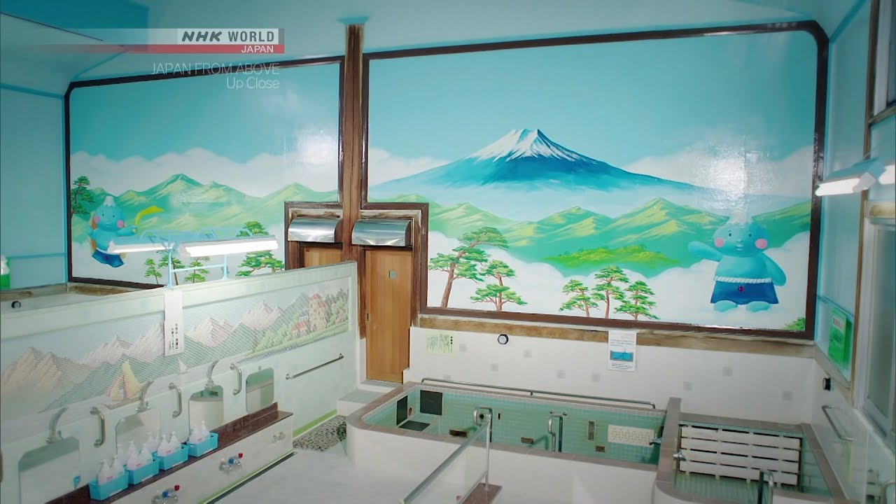 Photo of Bathhouse Brushstrokes [Tokyo] – JAPAN FROM ABOVE: UP CLOSE – video