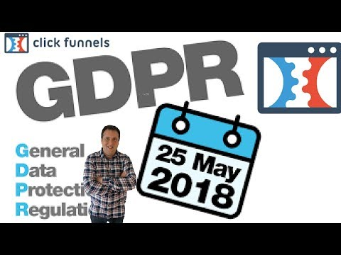 GDPR ClickFunnels (How To Be Compliant On Opt In Forms)