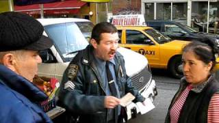 NYC Traffic / Parking Agent Harassing Street Vendor 4-17-09 5PM 85th Street 3rd Ave.