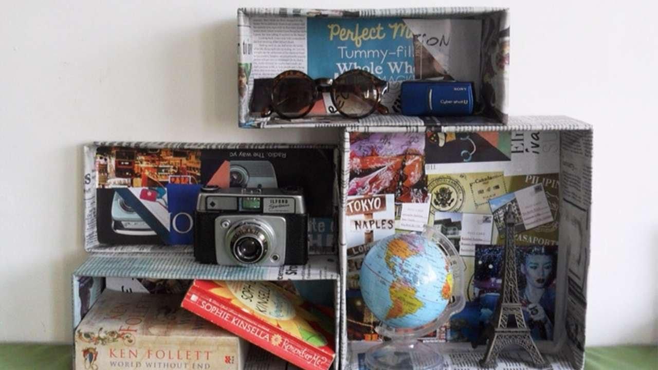 Crea una serie di scatole porta oggetti fai da te casa for Oggetti decorativi fai da te