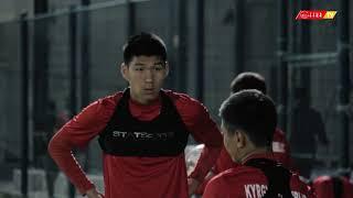 Тренировка Национальной сборной Кыргызстана в Катаре. 15 декабря