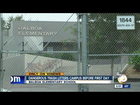 Dangerous trash litters Balboa school before first day