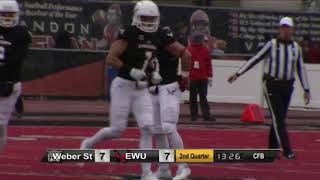Highlights Eastern Washington Football vs. Weber State (Nov. 4, 2017).