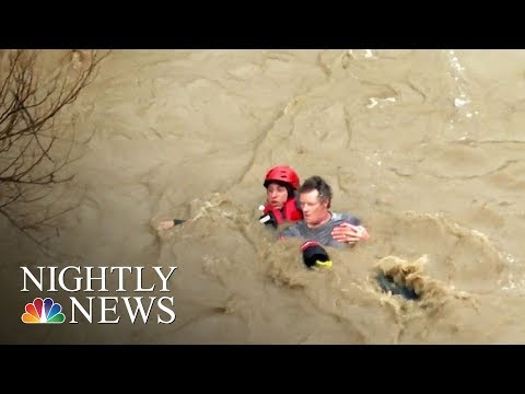 Powerful Storm Slams California Bringing Flooding, Rescues And Evacuations | NBC Nightly News