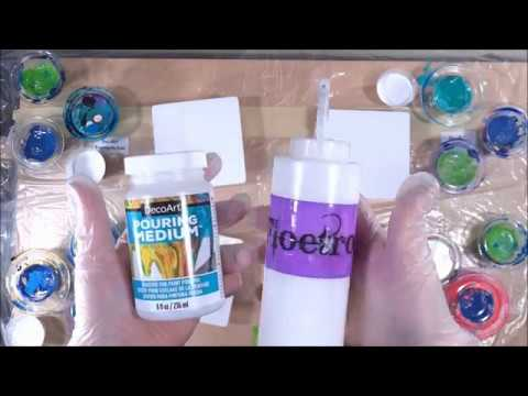 New Decoart Pouring Medium Vs Floetrol 143 Silicone No Silicone Youtube