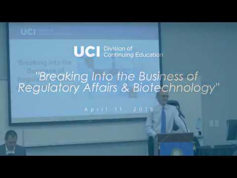 Breaking Into the Business of Regulatory Affairs & Biotechnology